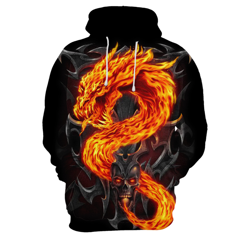 3d Skull Pattern Hoodie Hot Selling Hooded Sweatshirt Fashion Tide Pullover Autumn And Winter Thin Men And Women Hoodies