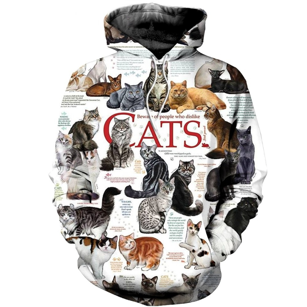 3d All Over Printed Cats Collection Clothing Unisex Sweatshirt Custom Hoodie Street Wear Pullover Hiphop