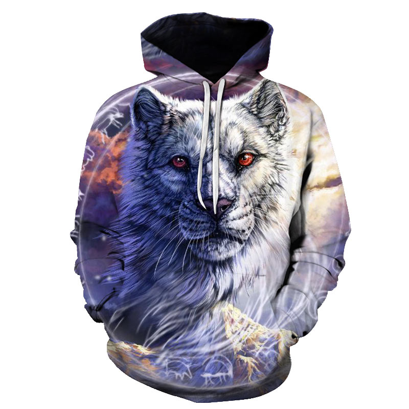 3d Print Tiger Hoodie Men Sweatshirt Men Women Hoodies Pullover Novelty Casual Animal Coats