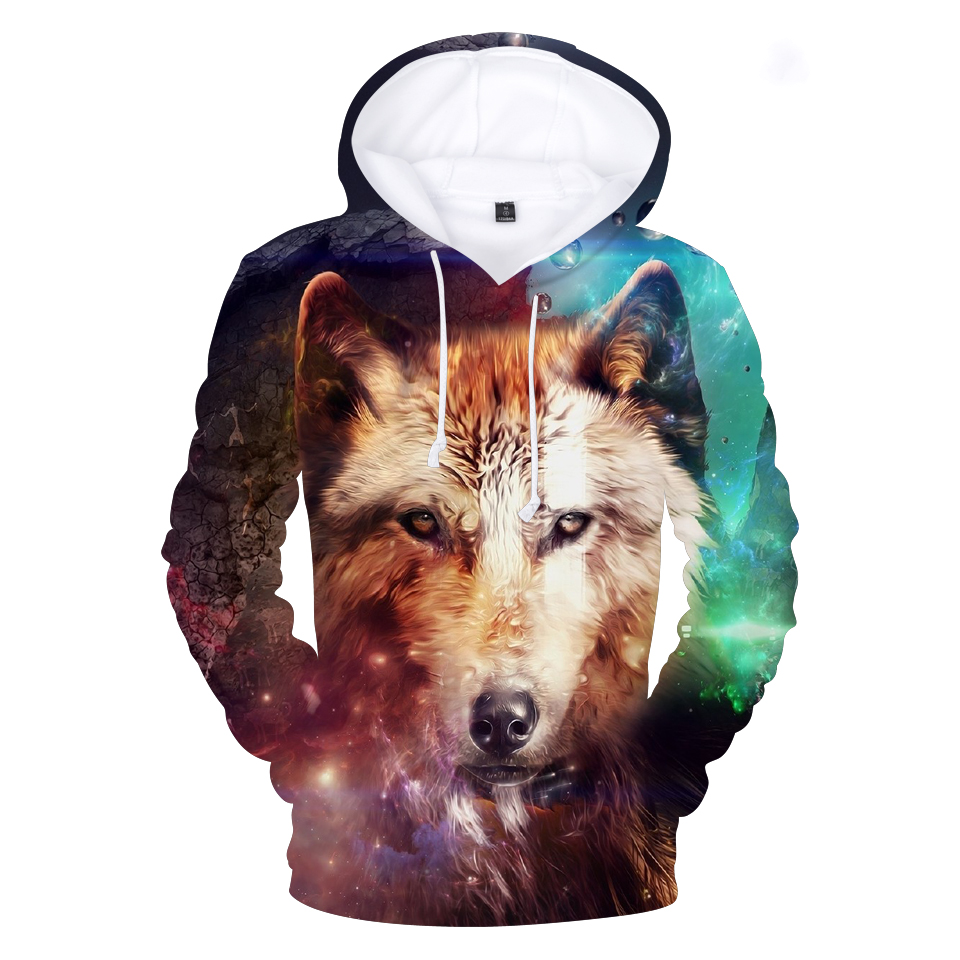 3d Printing Wild Wolf Hoodies Men Women 3d Anime Long Sleeve Fashion Casual Hoodie Autumn Winter Pullovers Mens Tops