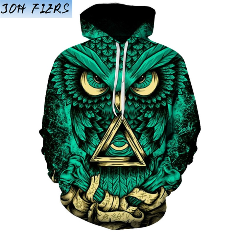 3d Hooded Sweatshirt Men Women 2020 Psychedelic Style Mandala Owl Print Mens Hoodies And Sweatshirts Casual Sweat Homme