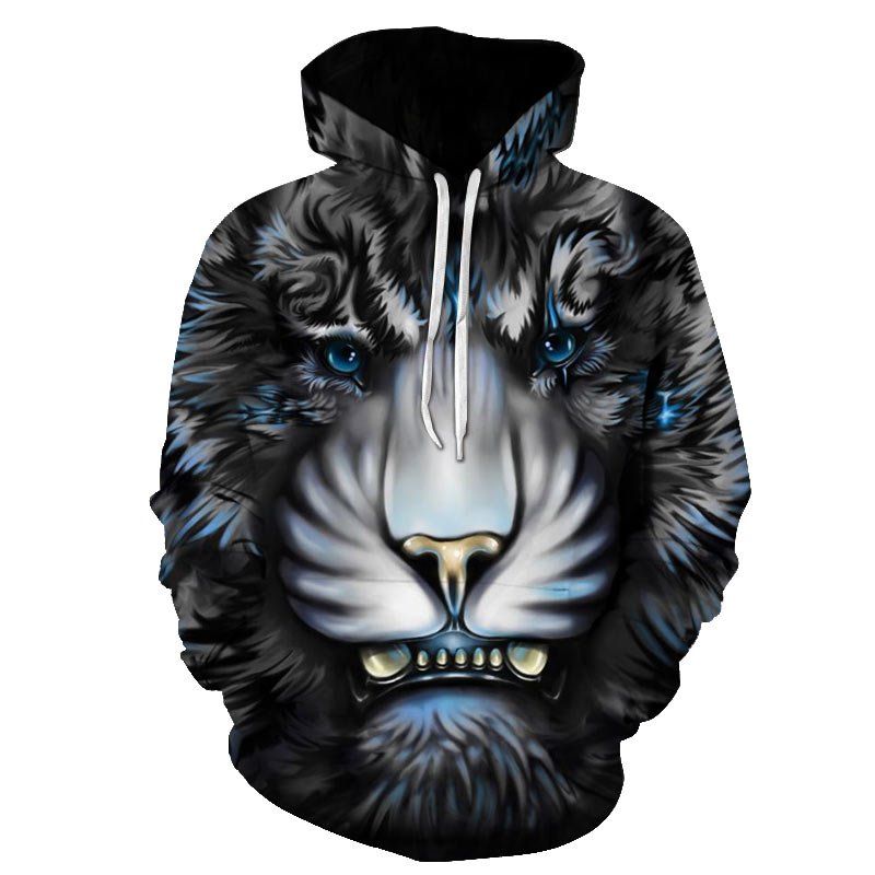 3d Hoodies Men Tiger Lion Leopard Sweatshirt Casual Couples Pullover Women Mens Hip Hop Animal Hoodie