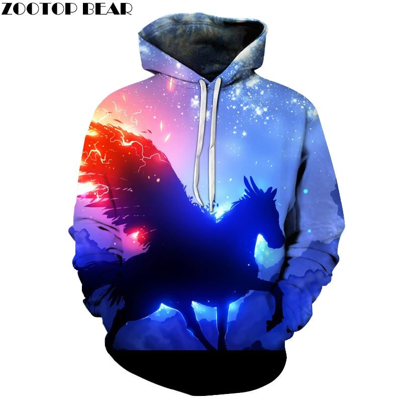 3d Sweatshirts Men Women Hoodies With Hat Print Fashion Autumn Winter Loose Thin Hooded Hoody Tops
