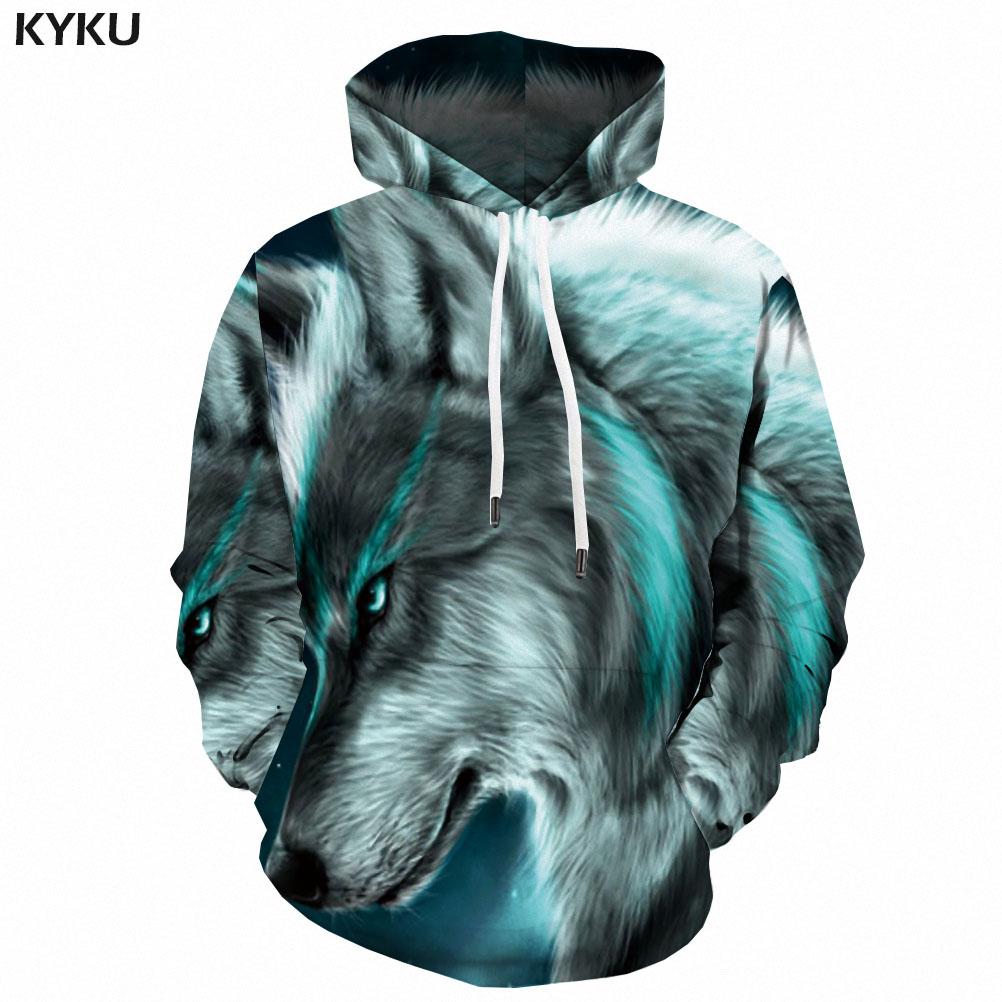 3d Hoodies Wolf Hoodie Men Animal Hoodie Print Funny Hooded Casual Wild Hoody Anime Ferocious Sweatshirt Printed