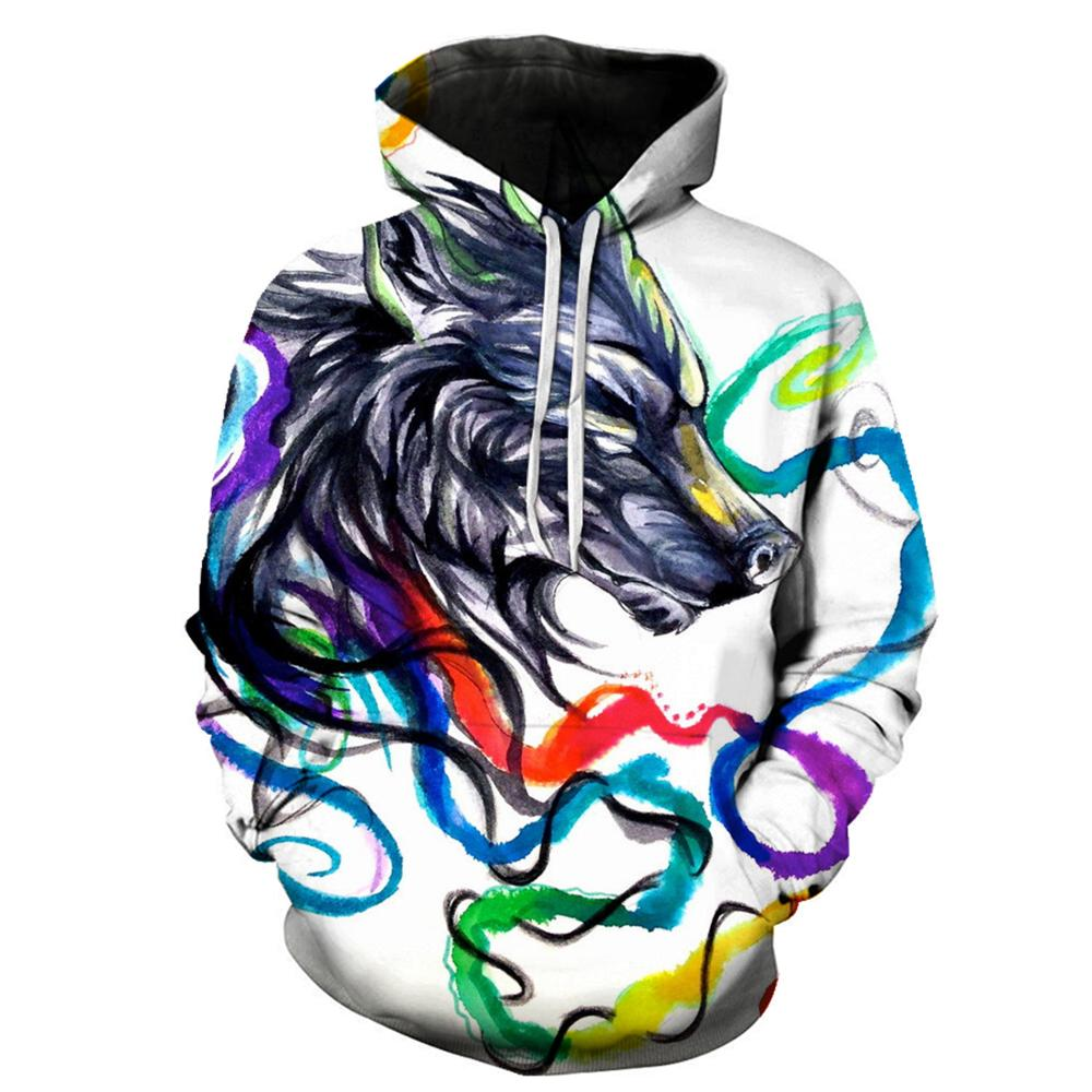 3d Men Women Sweatshirts Pullover Autumn Wolf Hoodie Fashion Casual Mens Clothes Pullover Streetwear