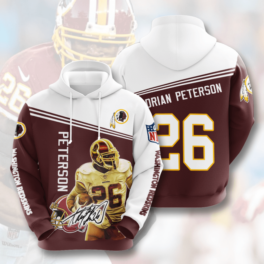 WASHINGTON REDSKINS Adrian Peterson 3D Hoodie For Men For Women, All Over Printed Hoodie