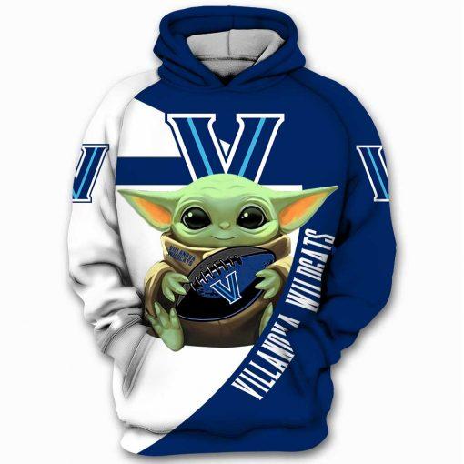 - Villanova Wildcats NCAA Yoda Baby Yoda Star Wars Men and Women 3D Full Printing Hoodie Zip Hoodie Sweatshirt T-shirt. Villanova Wildcats NCAA 3D Full Printing Hoodie Shirt