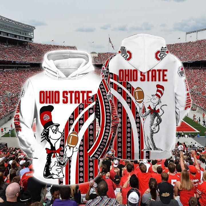 - The Cat In The Hat Ohio State Buckeyes Ncaa Skull 3d Hoodie For Men For Women All Over Printed Hoodie