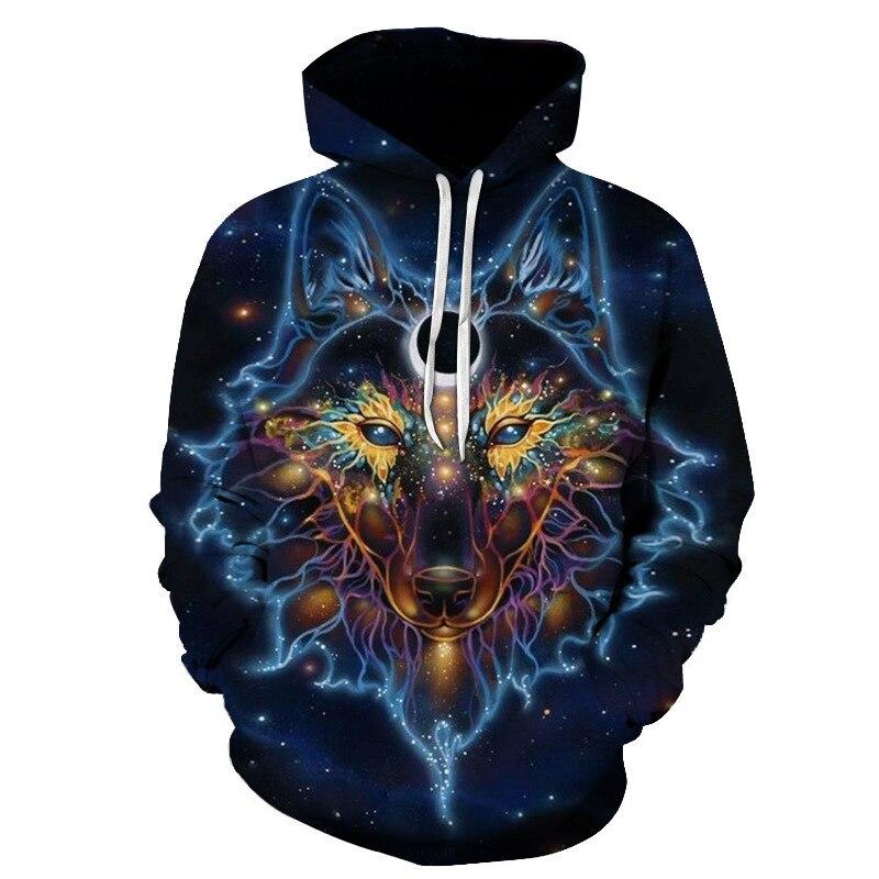 3d Print Wolf Star Hoodie Mens HoodieUnisex Sweathsirts Autumn Pullover Fashion Sportswear Boy Jacket