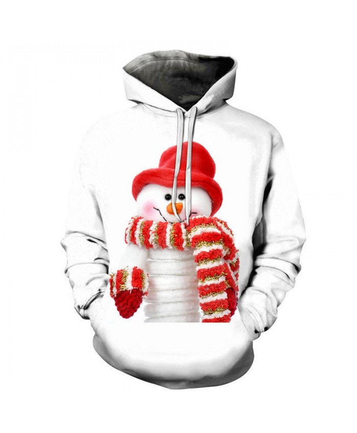 2020 Christmas Casual Fashion Pullover And Zip Pered Hoodies Custom 3d  Christmas Pattern Of A Cute Snowman Graphic Printed 3d Hoodie  All Over Print Hoodie For Men For Women