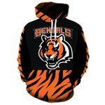 Cincinnati Bengals Pullover And Zippered Hoodies Custom 3d Graphic Printed 3d Hoodie For Men For Women