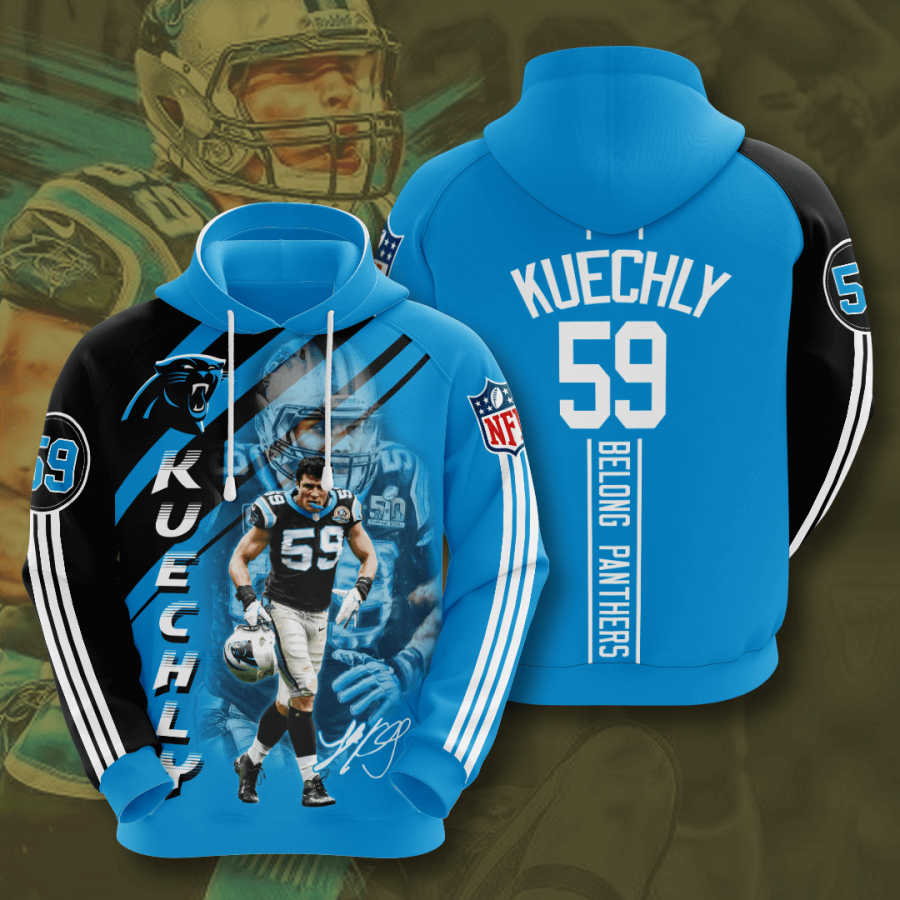 Carolina Panthers Luke Kuechly 3D Hoodie For Men For Women, All Over Printed Hoodie