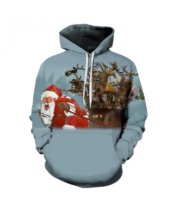 2020 Christmas Casual Fashion Pullover And Zip Pered Hoodies Custom 3d  Christmas Very Hard Santa's Pattern Graphic Printed 3d Hoodie  All Over Print Hoodie For Men For Women
