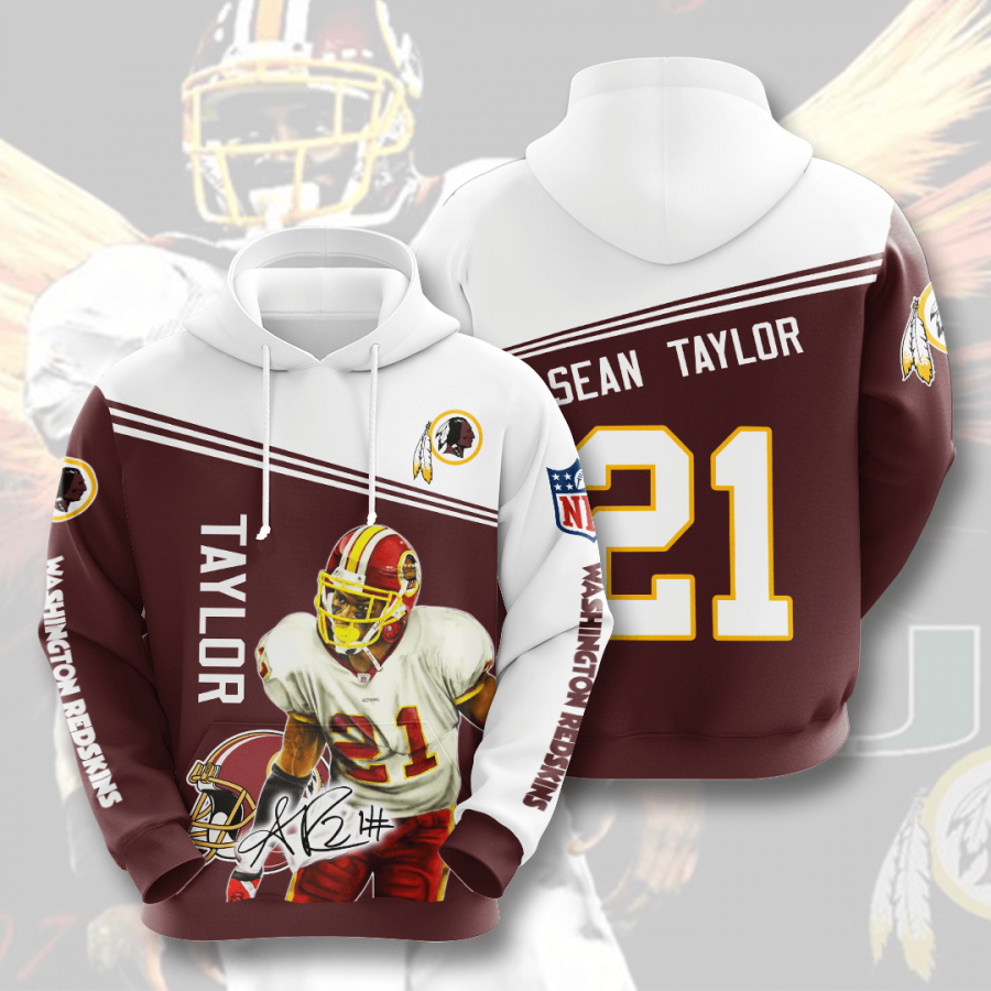 WASHINGTON REDSKINS Sean Taylor 3D Hoodie For Men For Women, All Over Printed Hoodie