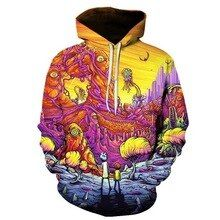 Rick And Morty Pullover And Zippered Hoodies Custom 3d  Graphic Printed 3d Hoodie  All Over Print Hoodie For Men For Women