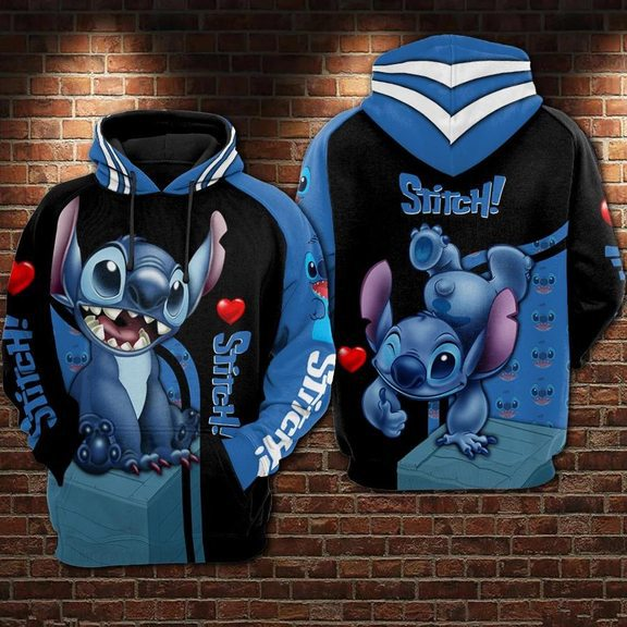 Stitch 3d Hoodie For Men For Women All Over Printed Hoodie