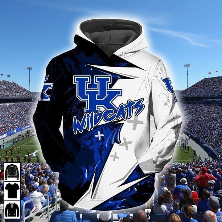 - Ncaa Kentucky Wildcats Basketball 3d Full Printed Hoodie