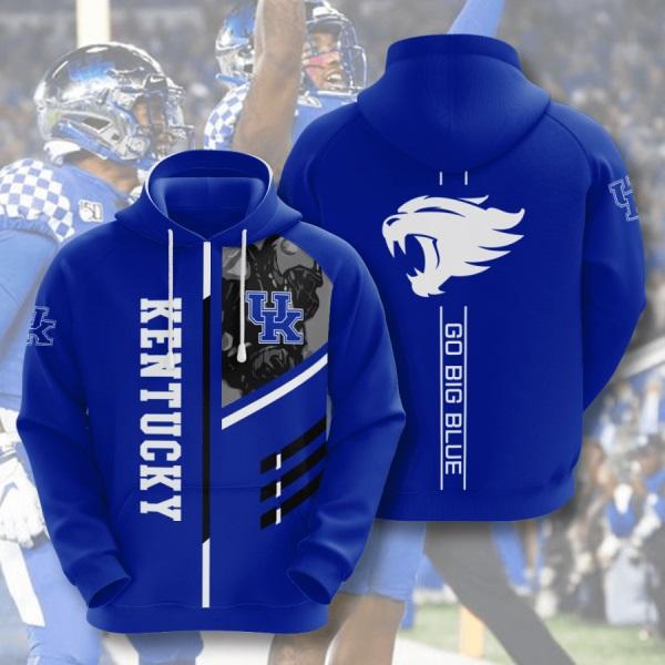 - Go Big Blue Kentucky Wildcats Men and Women 3D Full Printing Hoodie Shirt Kentucky Wildcats NCAA Basketball 3D Full Printing Shirt