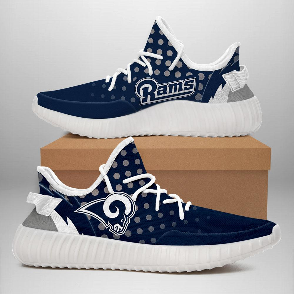 030 Los Angeles Rams Creative YEEZY Running Shoes Navy