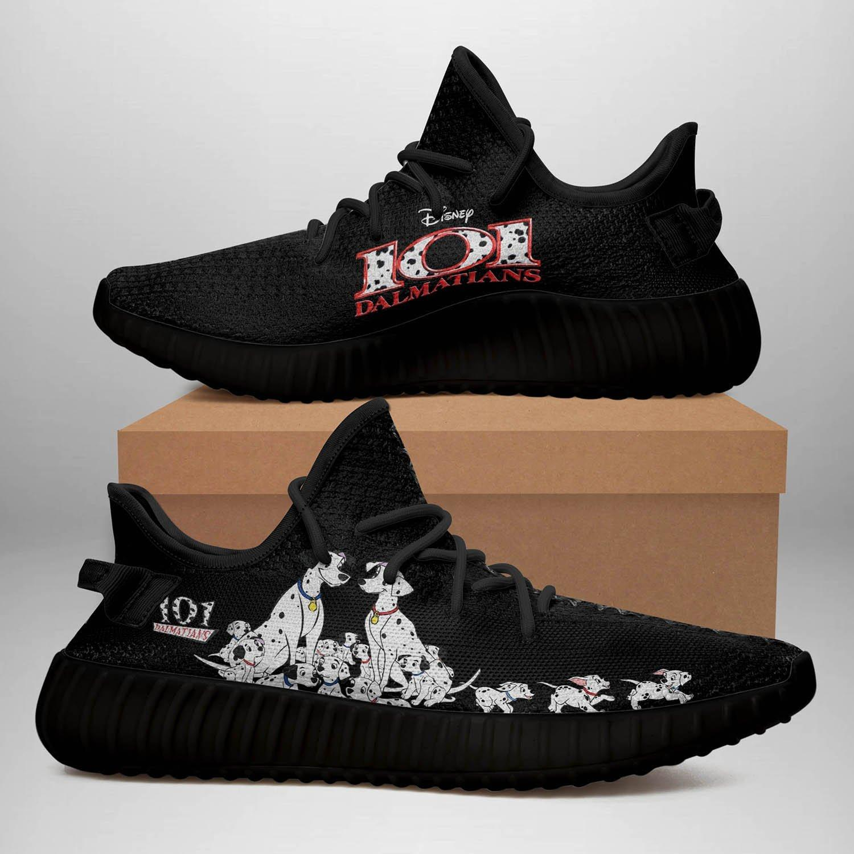 101 Dalmatians ? Black Yeezy Sneakers PT018B