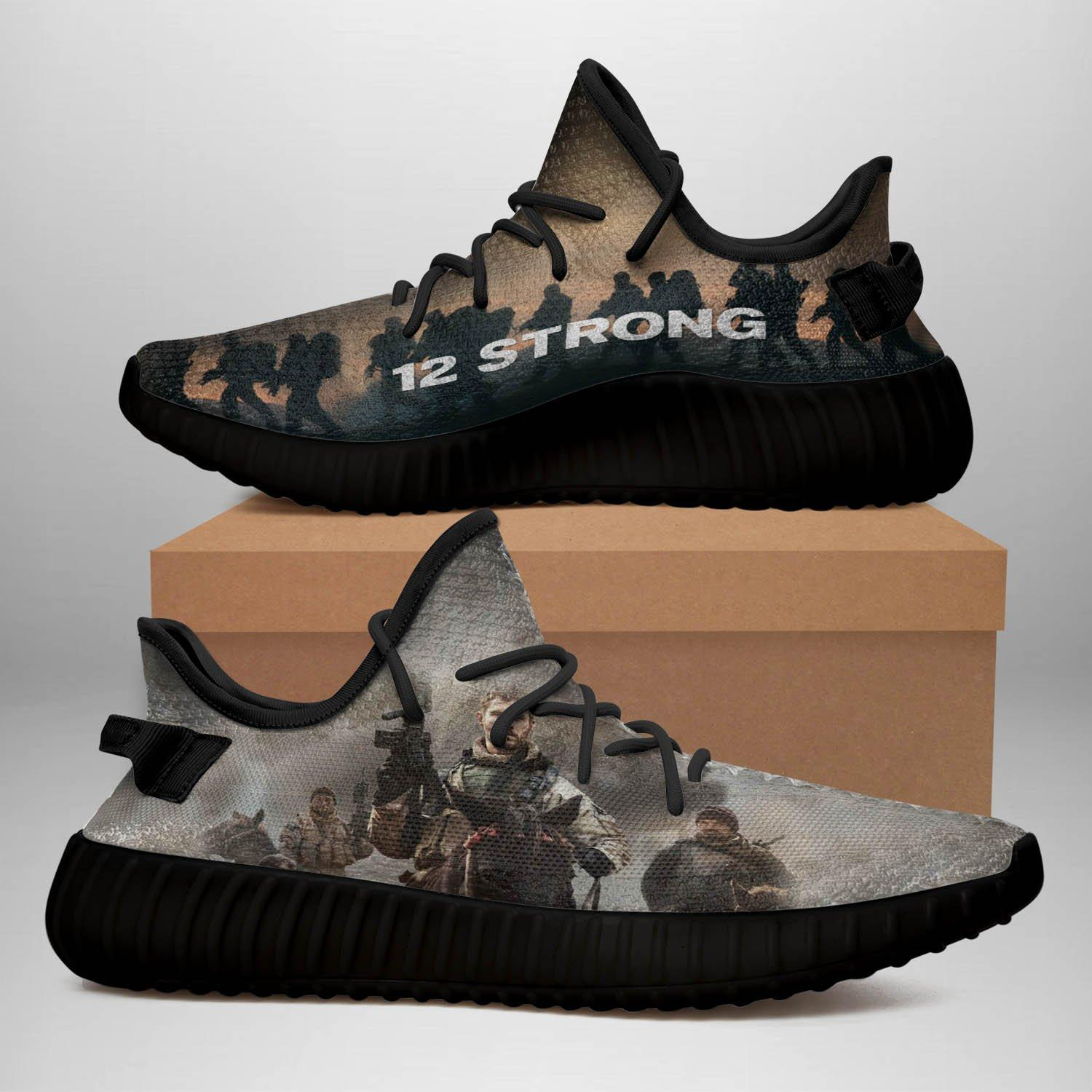 12 Strong ? Black Yeezy Sneakers PT070B