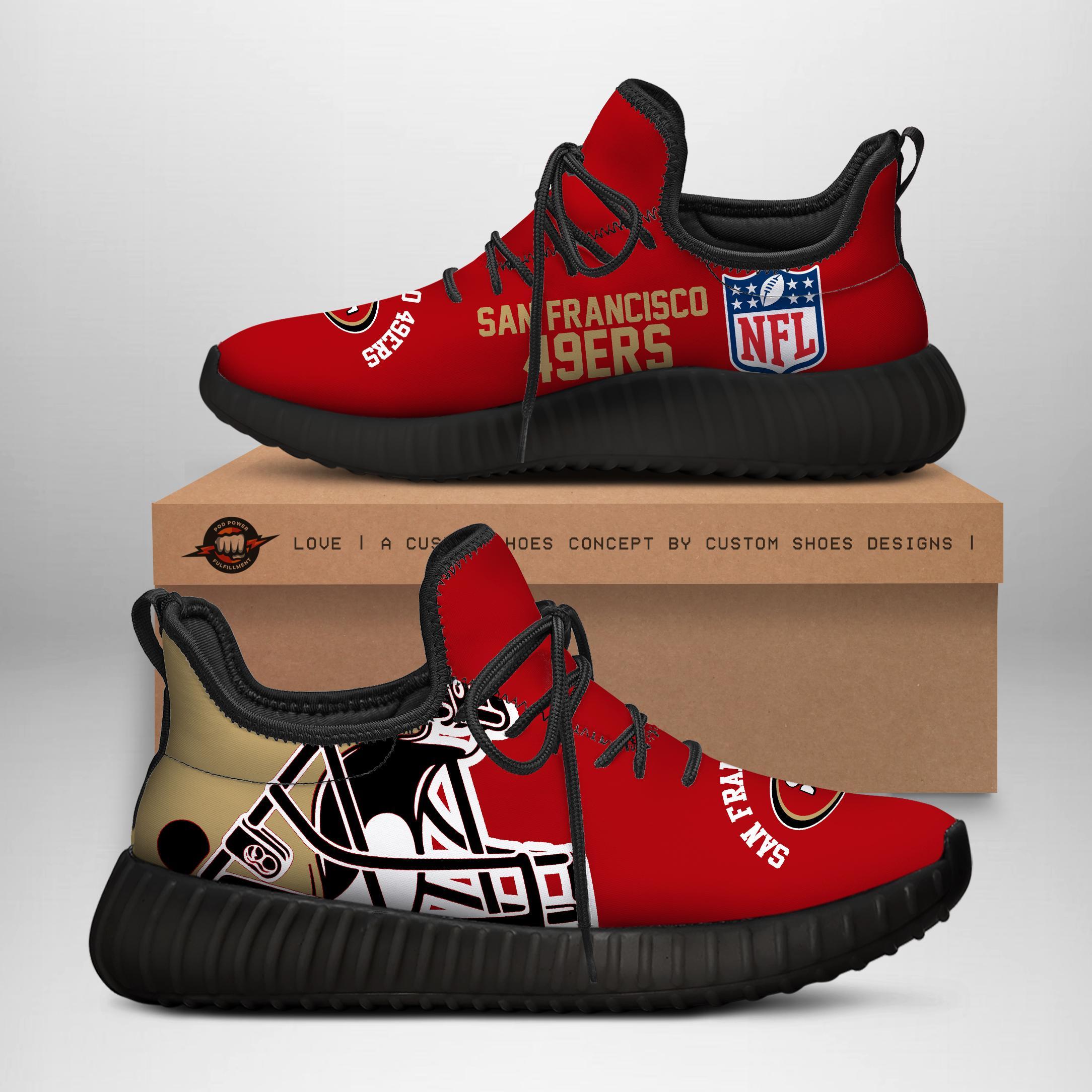 49ERS Custom New Yeezy Sneaker SNEAKER