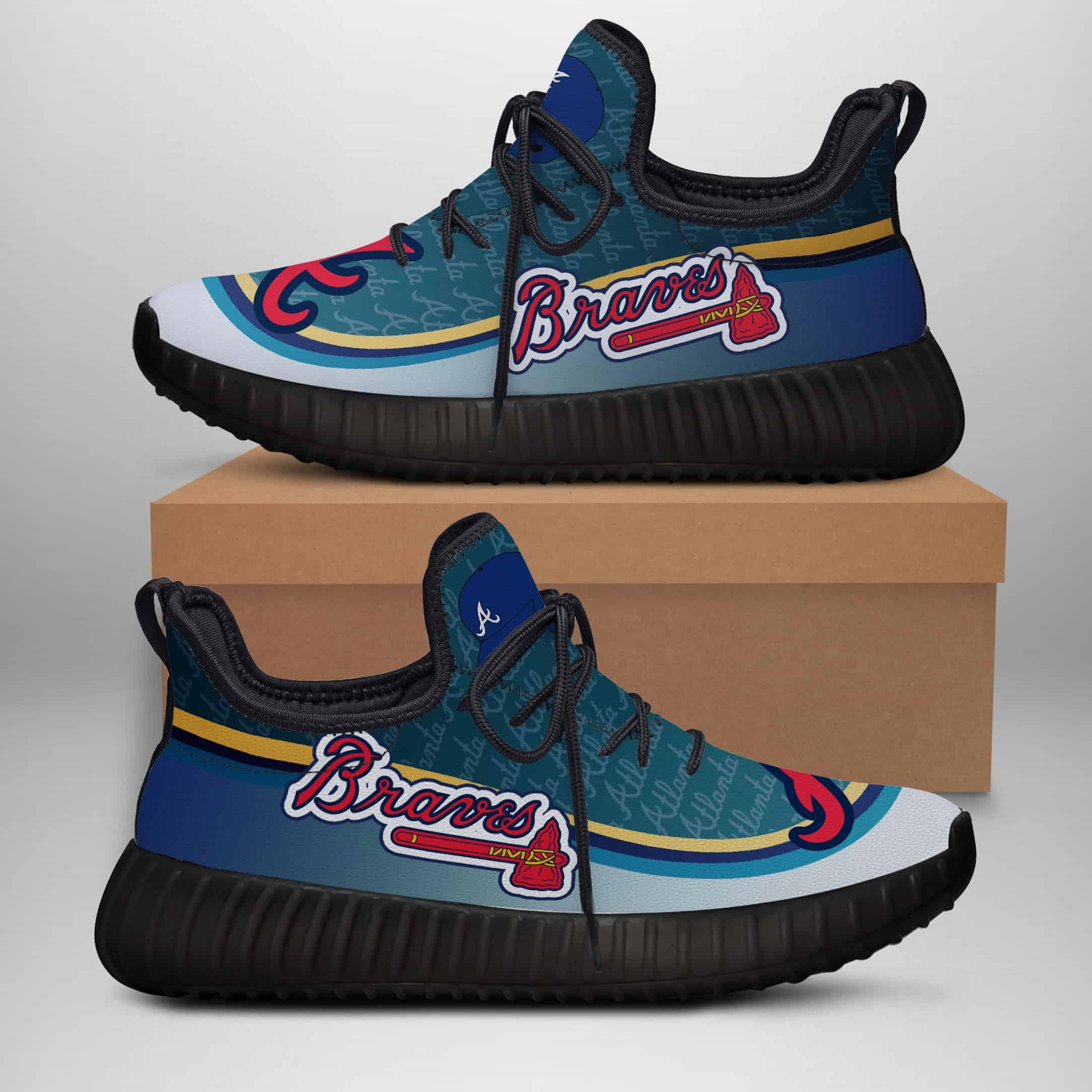 Atlanta Braves Custom New Yeezy Sneaker
