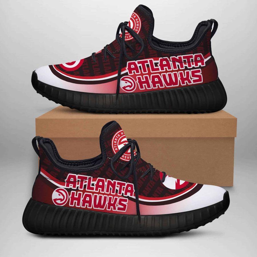 Atlanta Hawks Black Custom New Yeezy Sneaker Sneaker Custom Shoes 2020