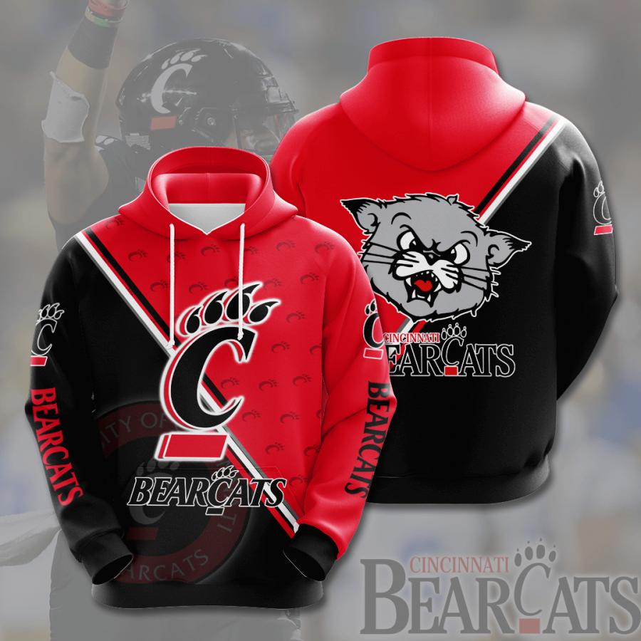 - Cincinnati Bearcats NCAA 3D Hoodie Cincinnati Bearcats All Over Print 3D Hoodie Cincinnati Bearcats All Over Print 3D T-Shirt