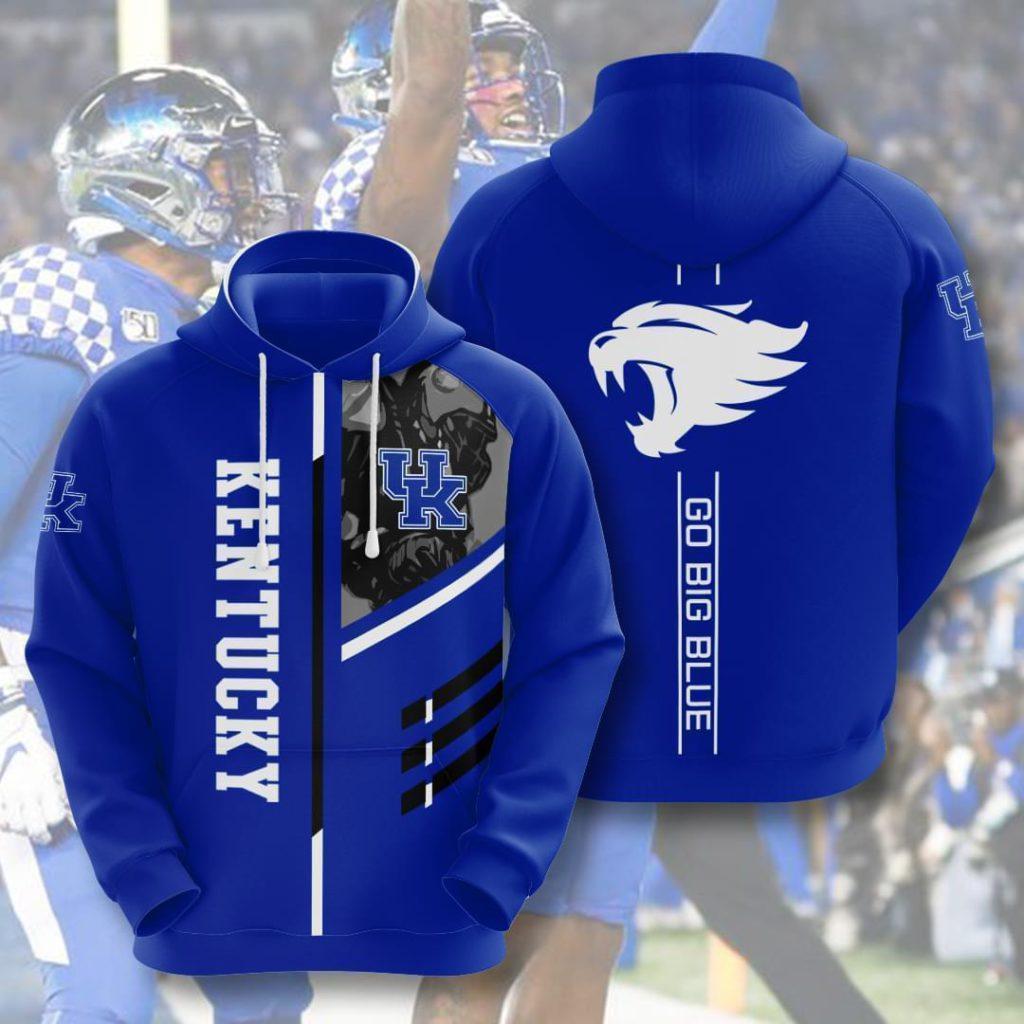 - Kentucky Wildcats Ncaa Go Big Blue 3d Full Over Print Hoodie Sweater Tshirt