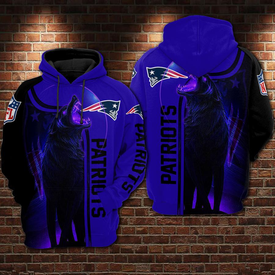 - New England Patriots Nfl Football Night Wolf 3d Hoodie For Men For Women New England Patriots All Over Printed Hoodie. New England Patriots 3d Full Printing Shirt