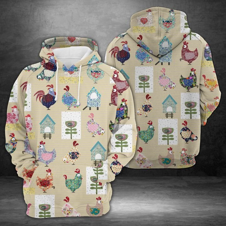 Colorful Chicken 3D Hoodie For Men For Women, All Over Printed Hoodie