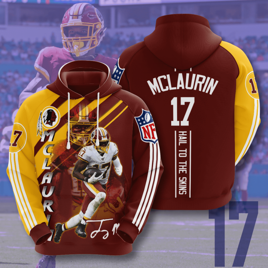 Washington Redskins Terry McLaurin 3D Hoodie For Men For Women, All Over Printed Hoodie